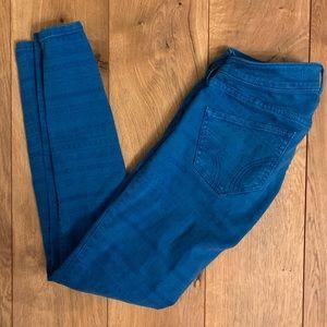 Hollister Jeans - Hollister Blue Patterned Skinny Jeans